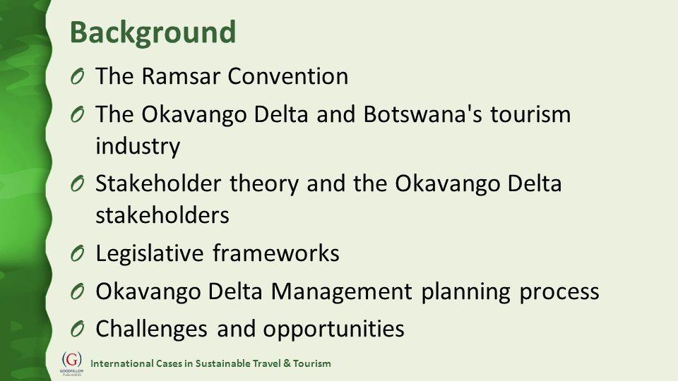 International Cases in Sustainable Travel & Tourism Okavango Delta Location
