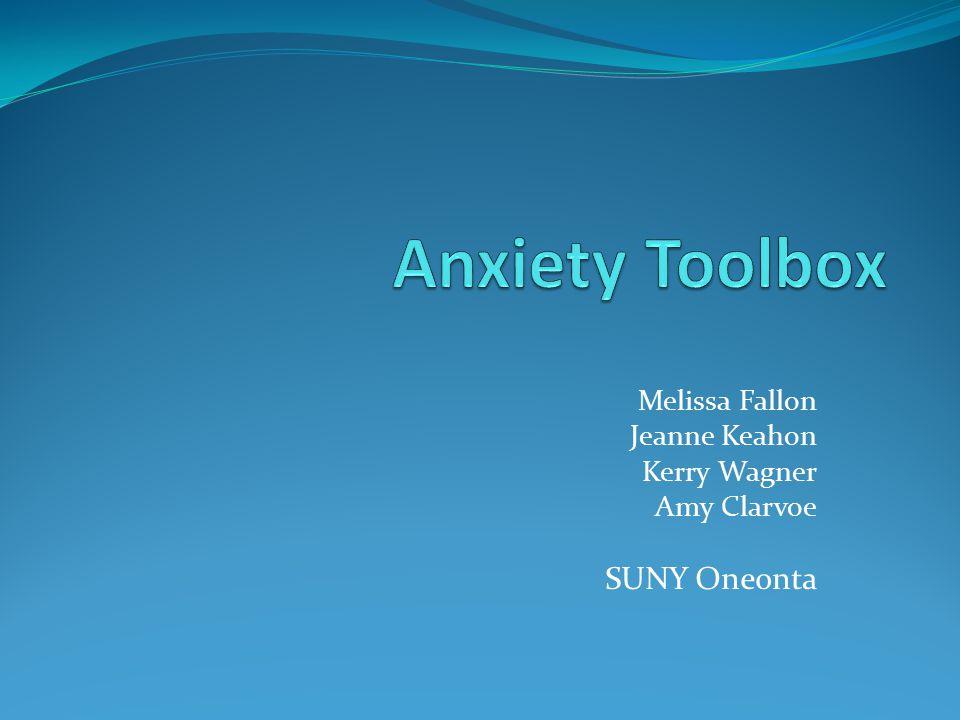 Melissa Fallon Jeanne Keahon Kerry Wagner Amy Clarvoe SUNY Oneonta