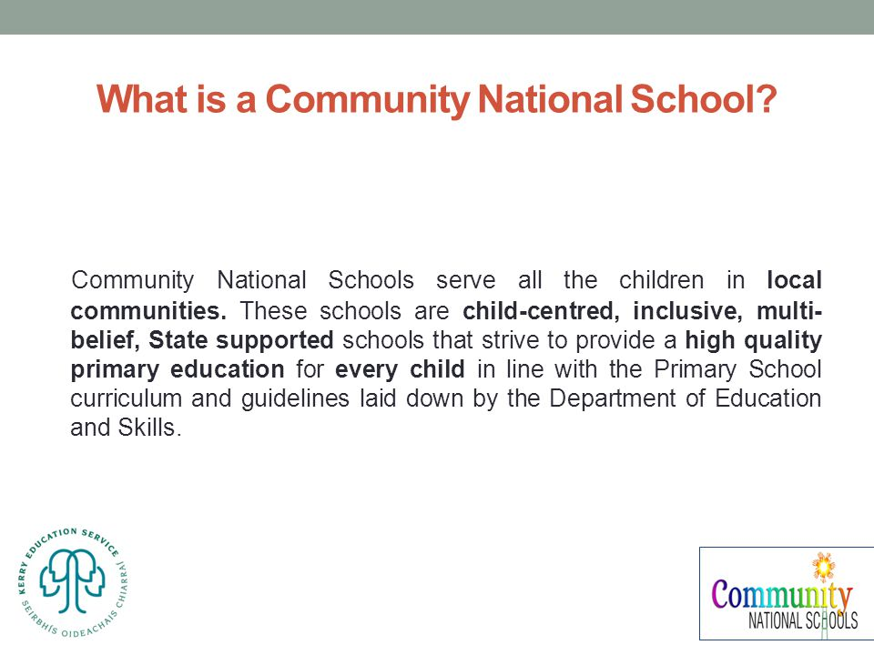 What is a Community National School.