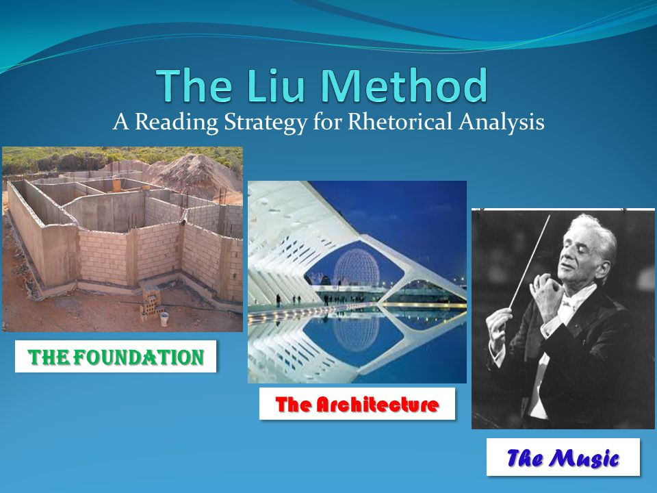A Reading Strategy for Rhetorical Analysis The Foundation The Architecture The Music
