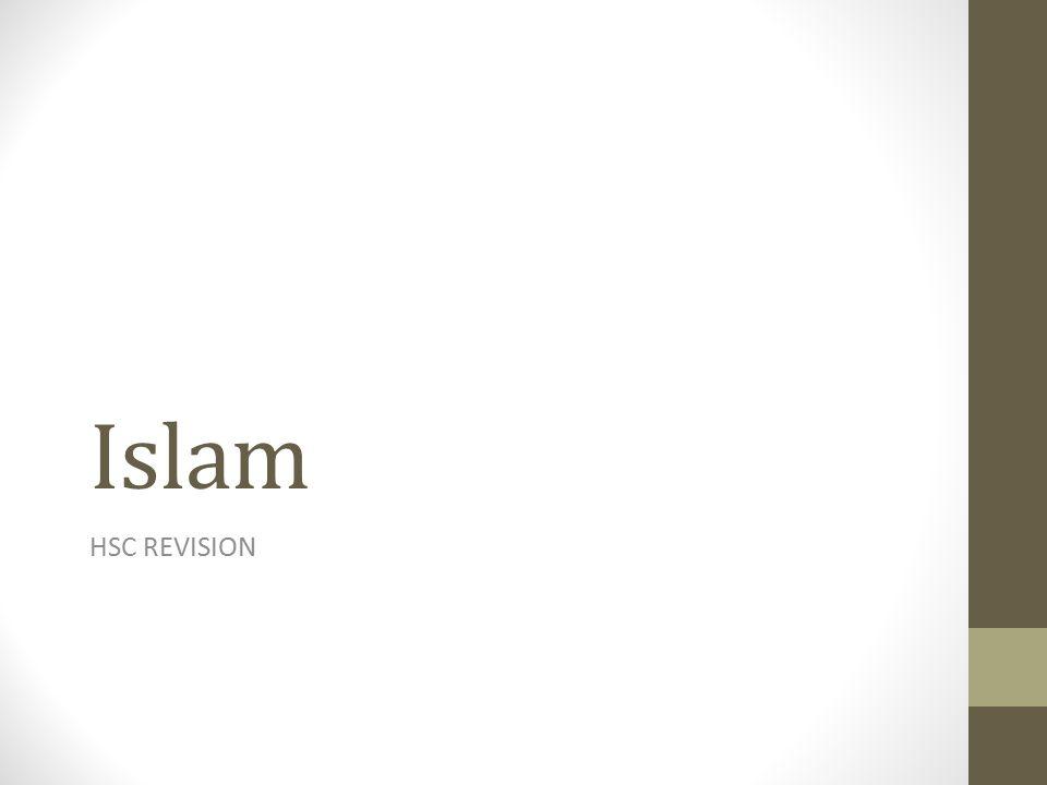 Islam HSC REVISION