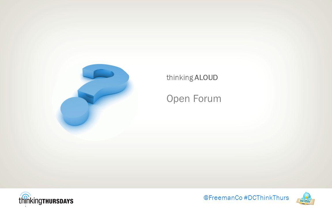 thinking ALOUD Open Forum