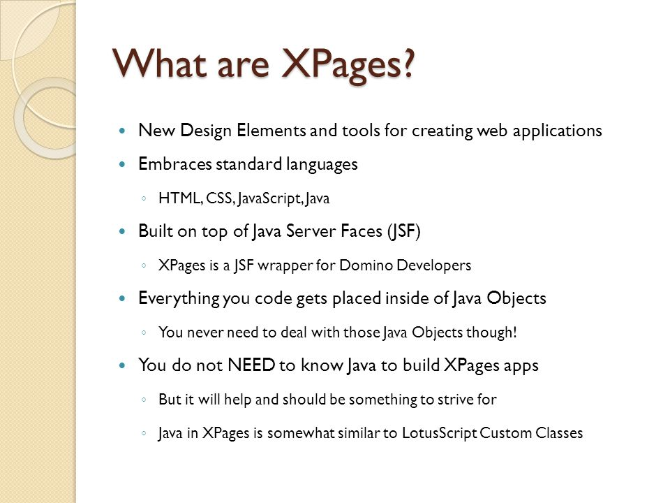What are XPages.