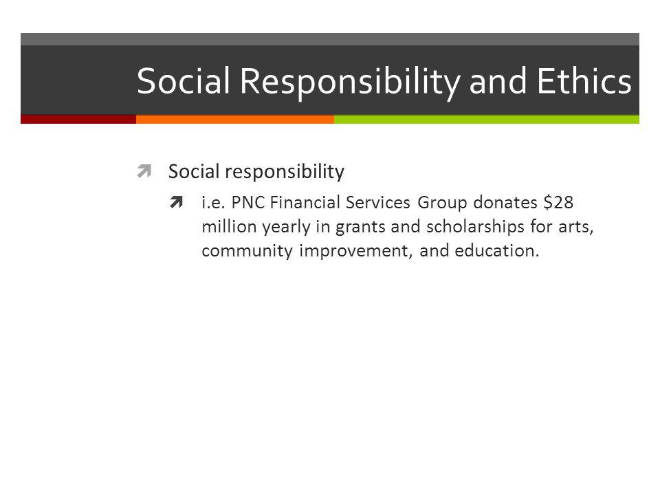 Social Responsibility and Ethics  Social responsibility  i.e.