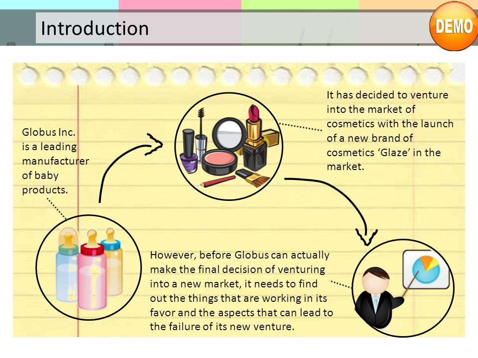 Introduction Globus Inc. is a leading manufacturer of baby products. It has decided to venture into the market of cosmetics with the launch of a new b