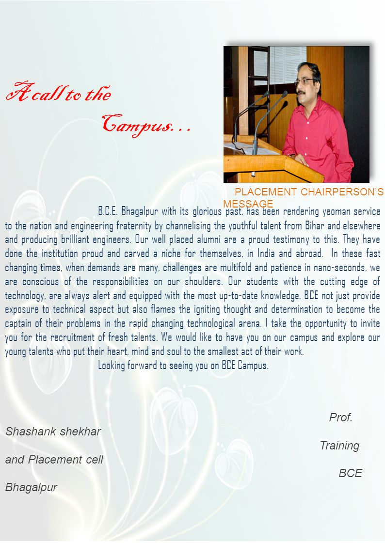 BHAGALPUR COLLEGE OF ENGINEERNG Under dept.of Science &Technology, Govt.