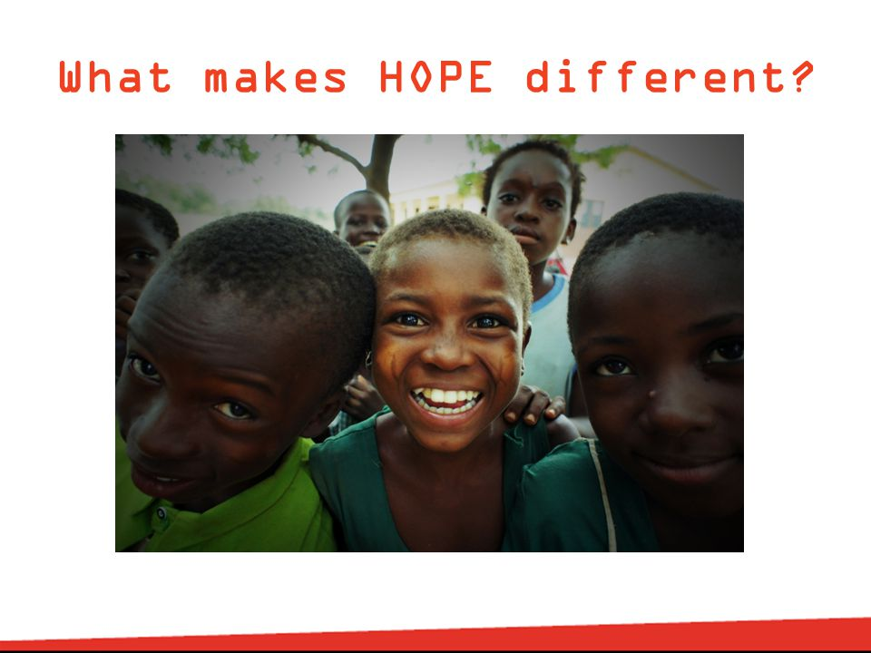 What makes HOPE different?