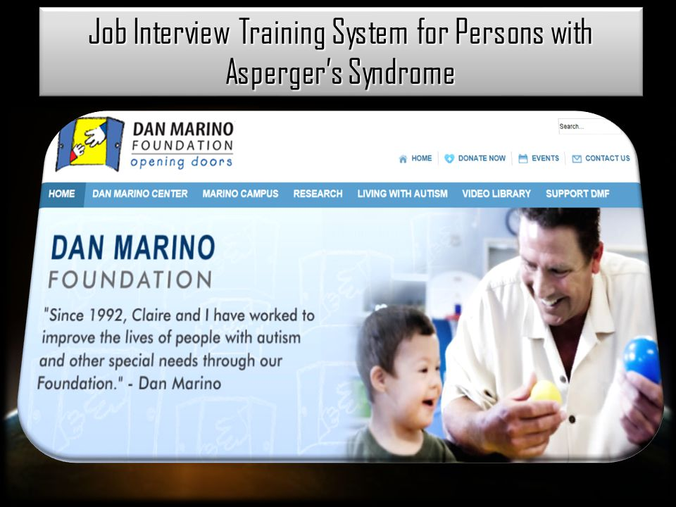 Job Interview Training System for Persons with Asperger's Syndrome