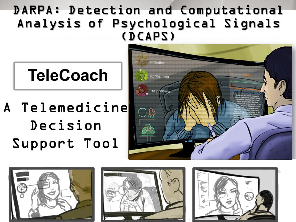 3 A Telemedicine Decision Support Tool TeleCoach DARPA: Detection and Computational Analysis of Psychological Signals (DCAPS)