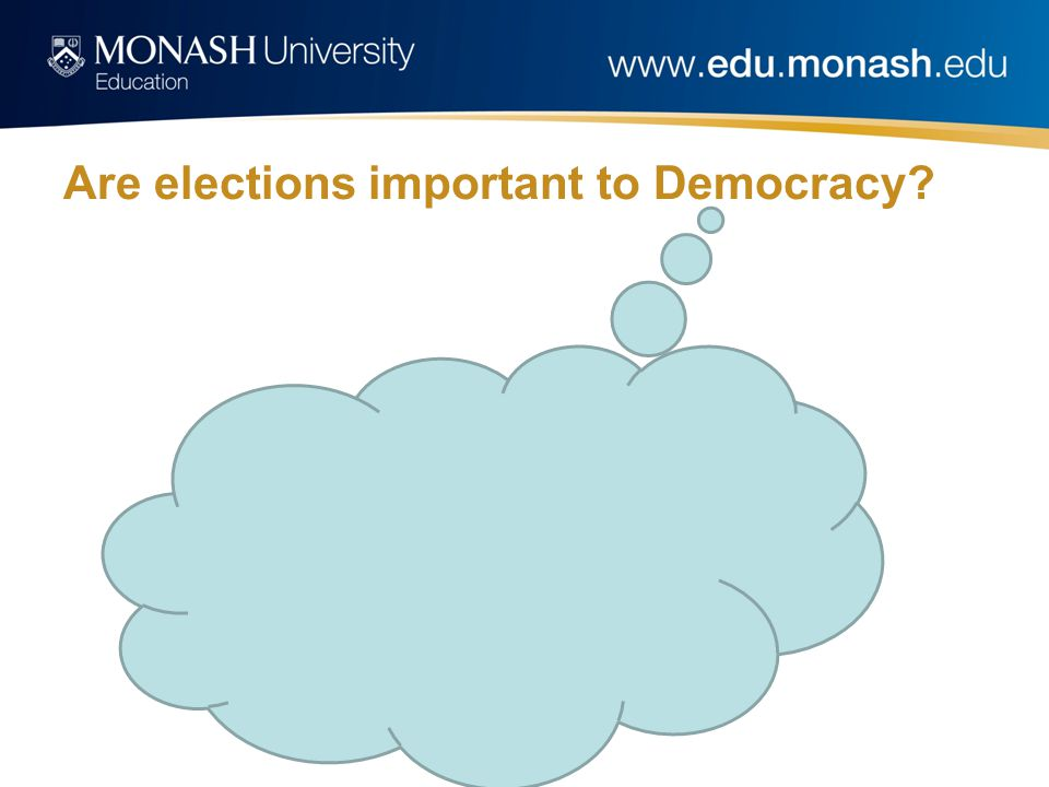 Are elections important to Democracy