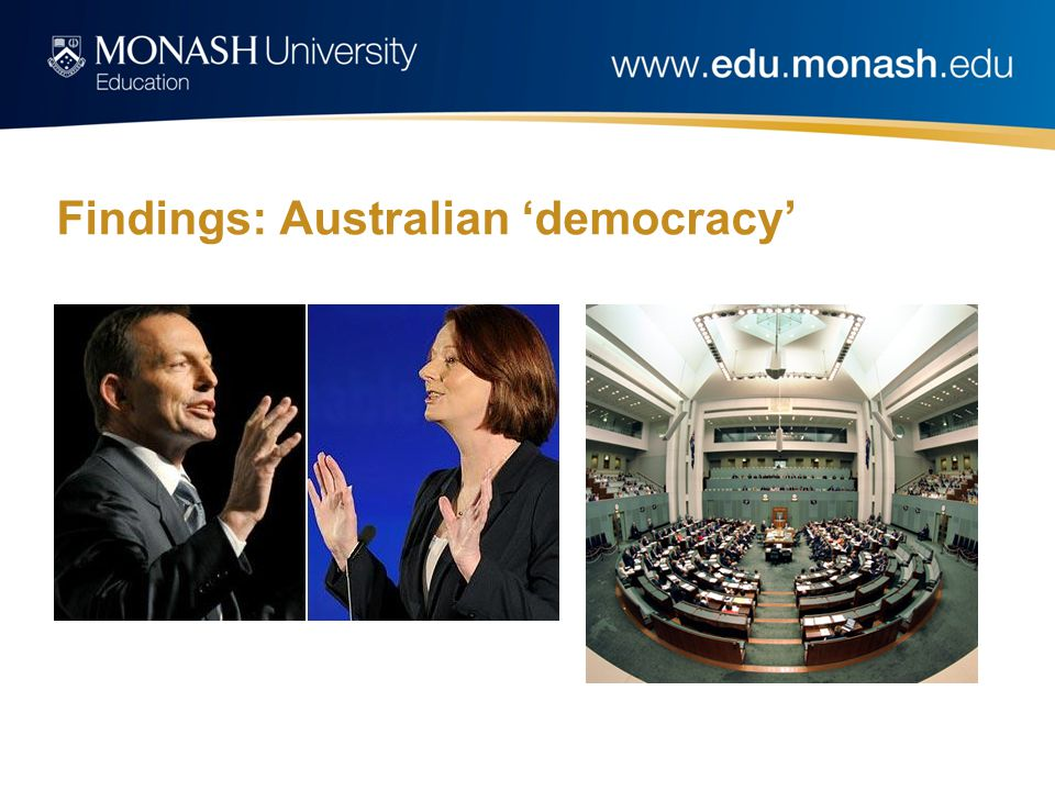 Findings: Australian 'democracy'