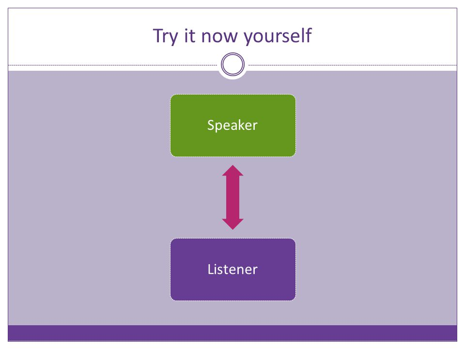 Try it now yourself SpeakerListener