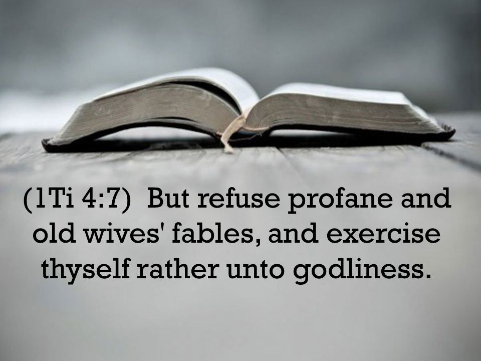 (1Ti 6:20) O Timothy, keep that which is committed to thy trust, avoiding profane and vain babblings, and oppositions of science falsely so called: