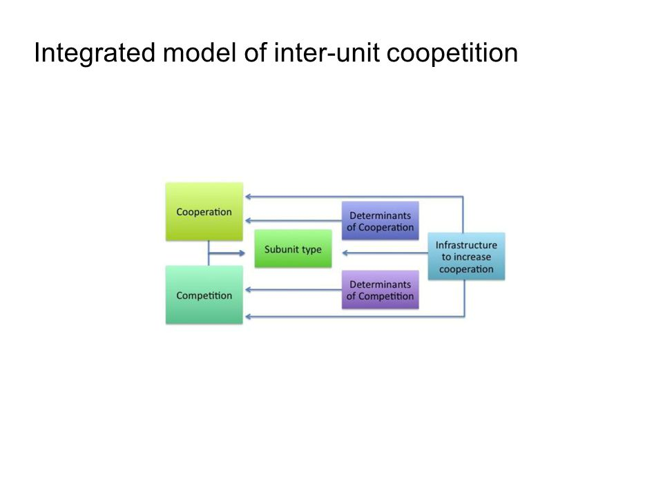 Integrated model of inter-unit coopetition
