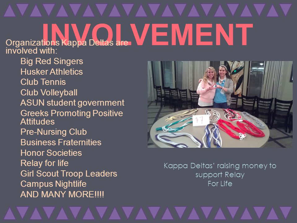 Social Involvement Kappa Delta strives to be well-rounded.