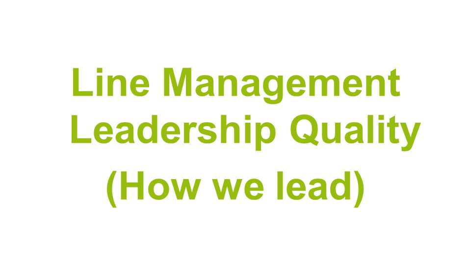 Line Management Leadership Quality (How we lead)