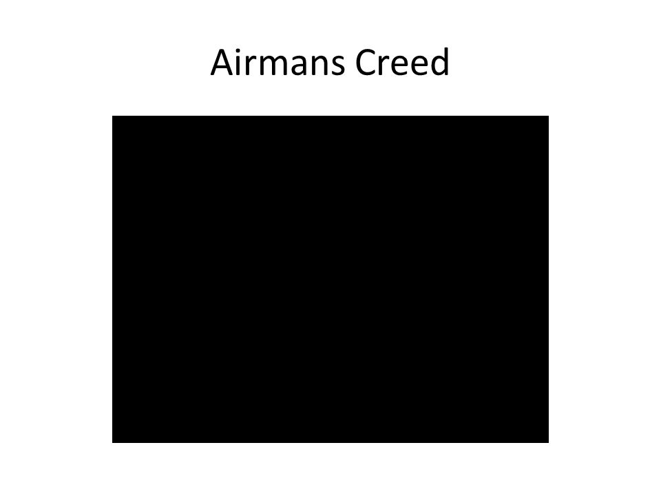 Airmans Creed