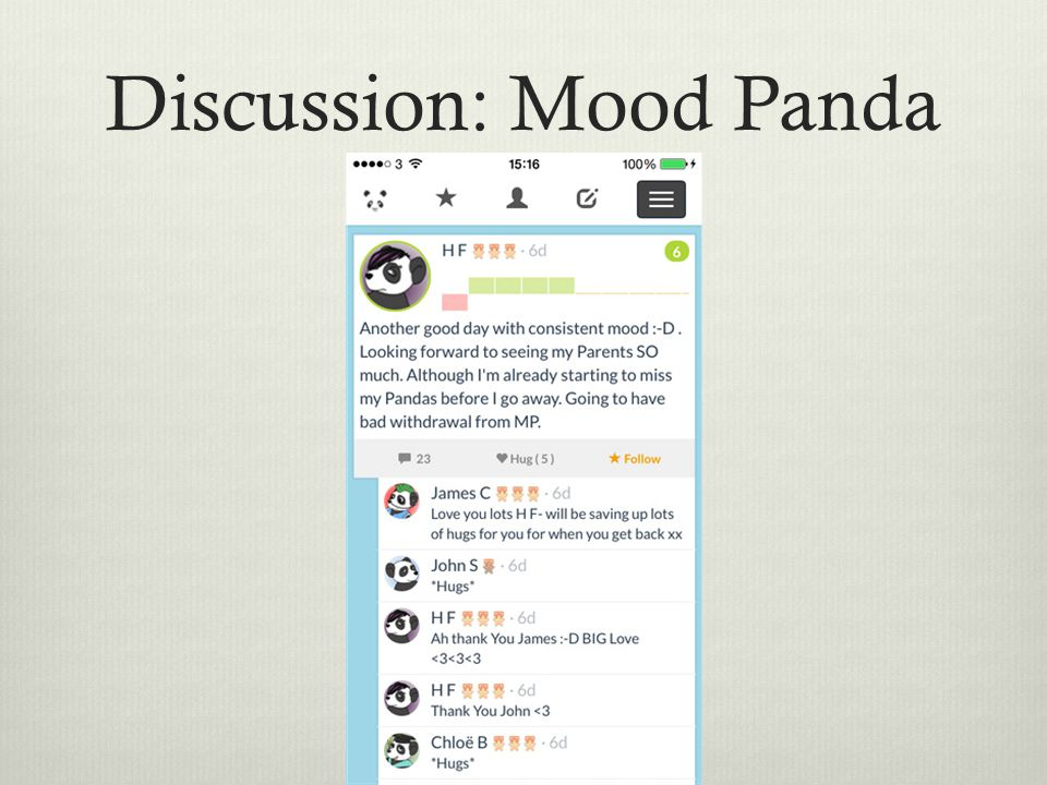 Discussion: Mood Panda