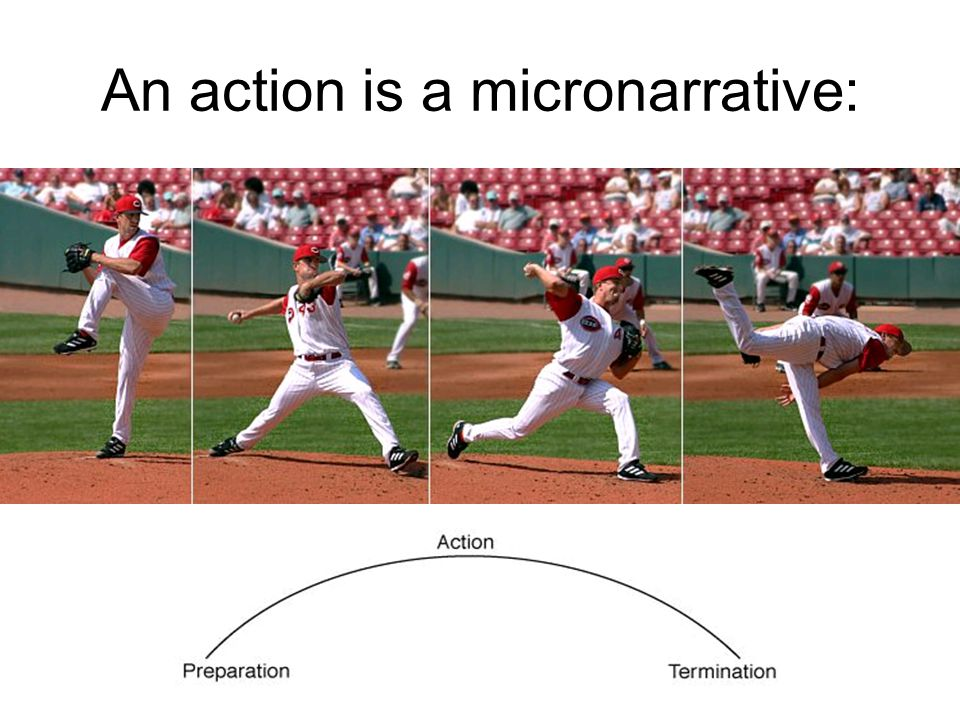 An action is a micronarrative: