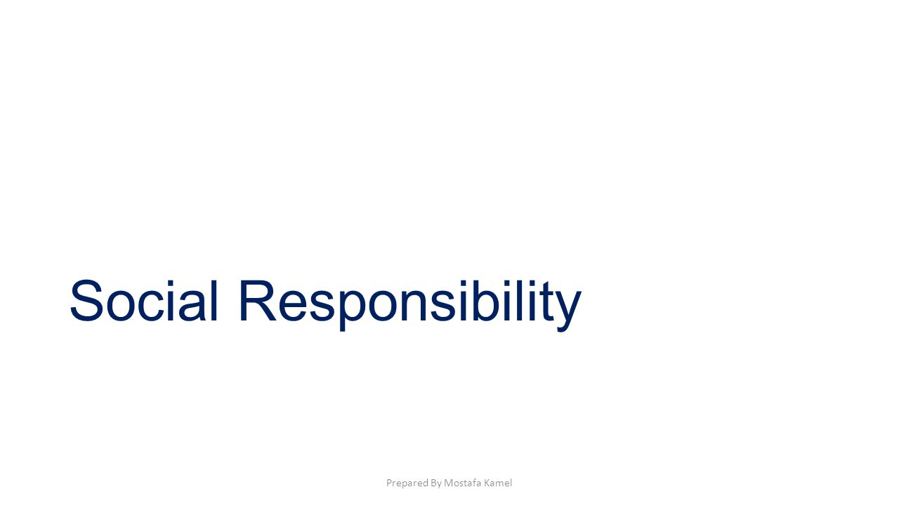 Social Responsibility: Is the attempt of a business to balance its commitments to individuals and groups in its environment, including customers, other businesses, employees, investors, and local communities.