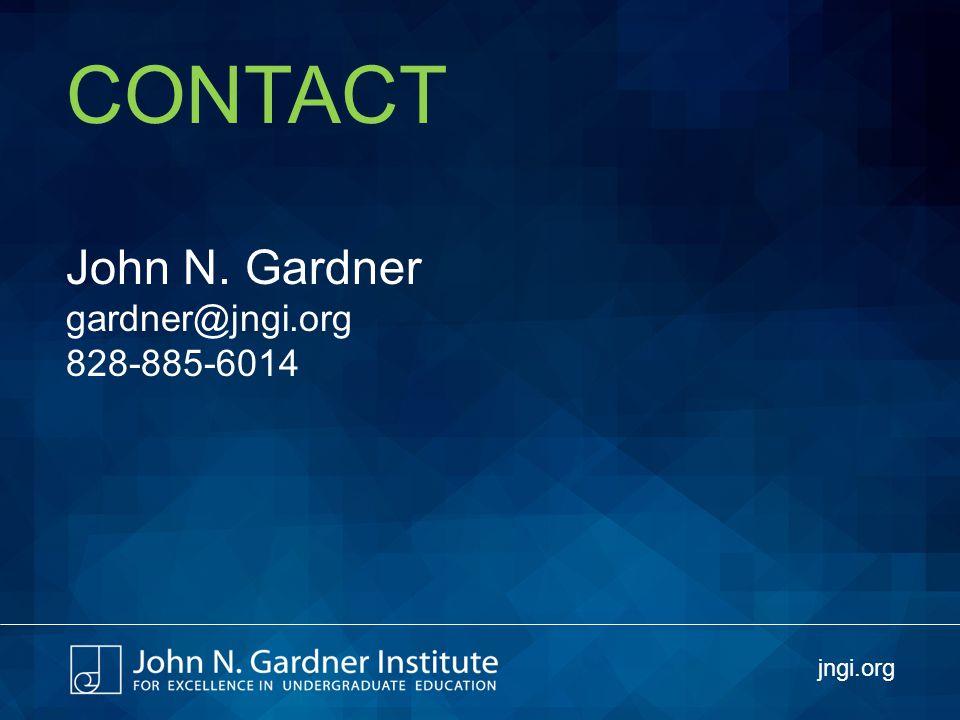 CONTACT John N. Gardner gardner@jngi.org 828-885-6014 jngi.org