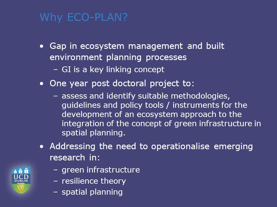 Why ECO-PLAN.