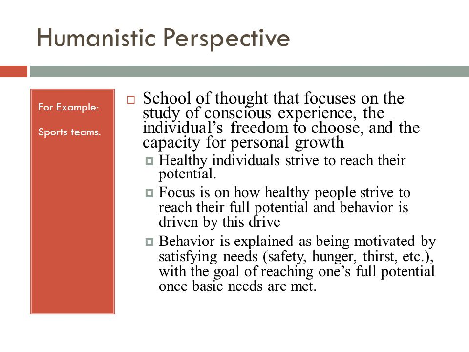 Psychodynamic Perspective For Example: Freud.