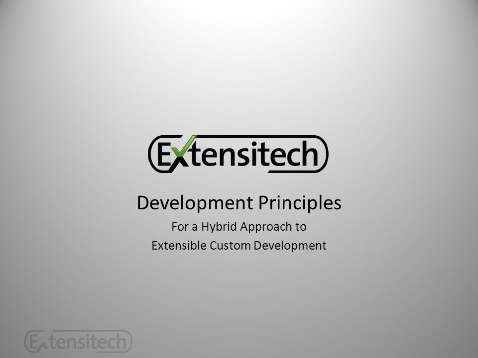 Development Principles For a Hybrid Approach to Extensible Custom Development