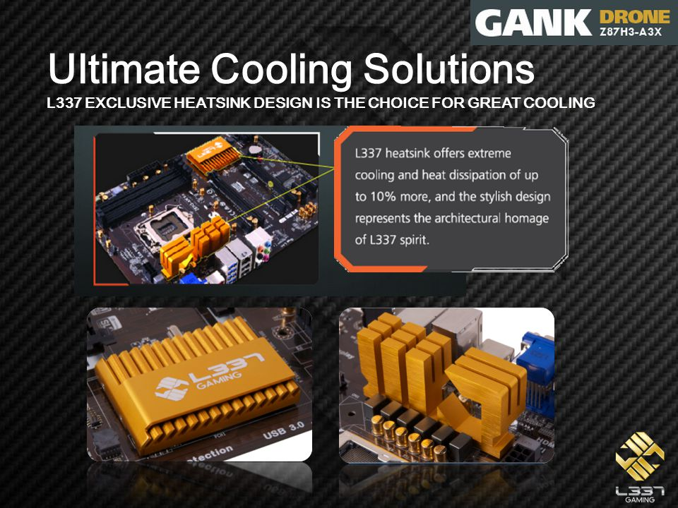 Ultimate Cooling Solutions L337 EXCLUSIVE HEATSINK DESIGN IS THE CHOICE FOR GREAT COOLING