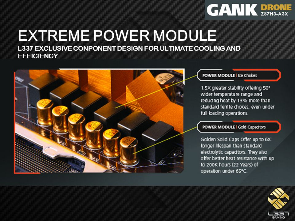 EXTREME POWER MODULE L337 EXCLUSIVE CONPONENT DESIGN FOR ULTIMATE COOLING AND EFFICIENCY