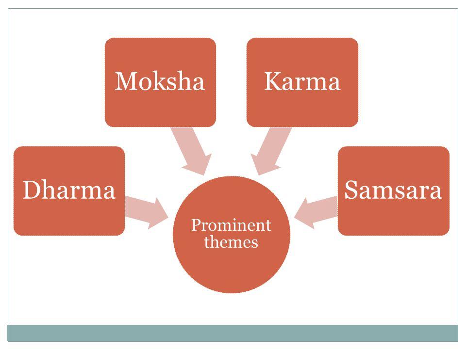 Prominent themes DharmaMokshaKarmaSamsara