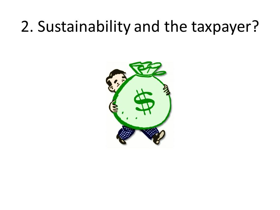 2. Sustainability and the taxpayer