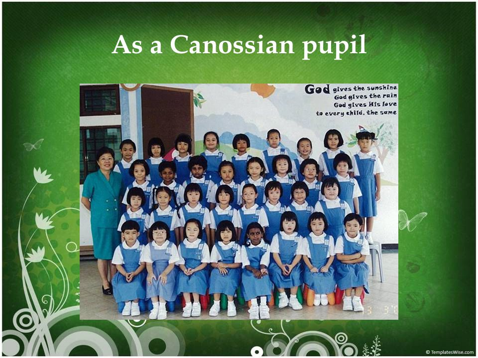 As a Canossian pupil