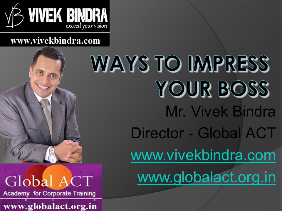 Mr. Vivek Bindra Director - Global ACT www.vivekbindra.com www.globalact.org.in