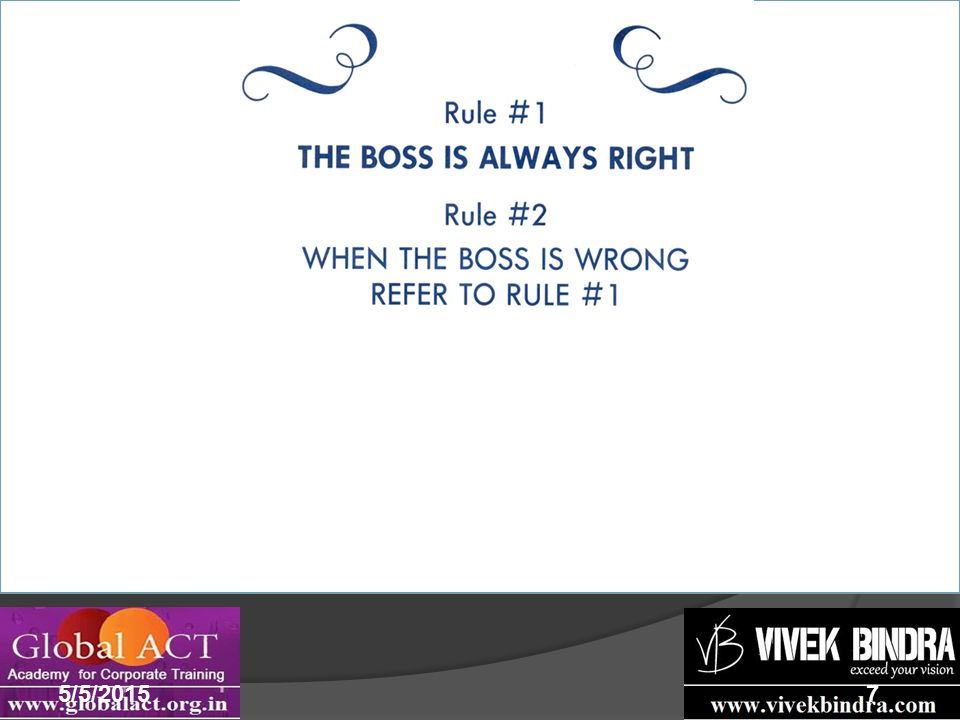 Make your boss look good 5/5/20157 Offer ideas suggestions that will enhance your team or boss's profile & when your contribution is appreciated do not let it go to your head and hog all the credit.