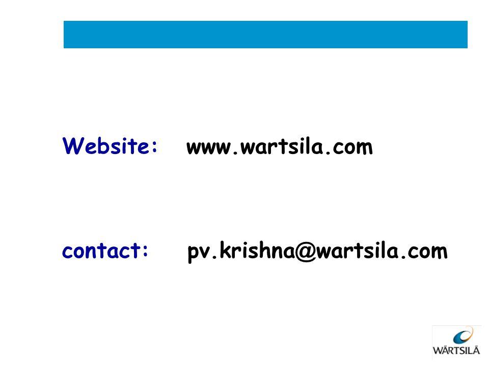 Website: www.wartsila.com contact: pv.krishna @ wartsila.com