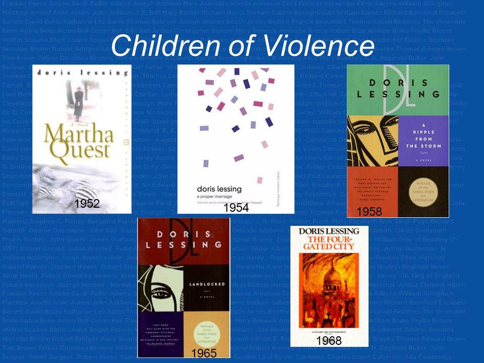 Children of Violence 1952 1954 1958 1965 1968