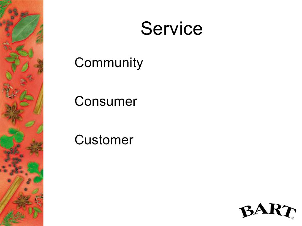 Service Community Consumer Customer