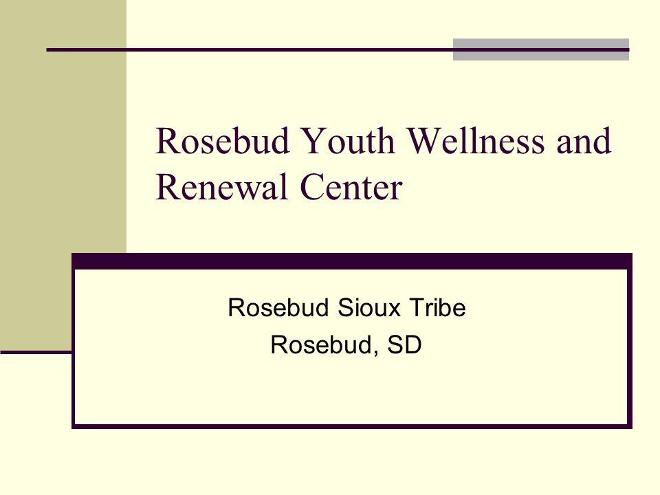 Rosebud Youth Wellness and Renewal Center Rosebud Sioux Tribe Rosebud, SD