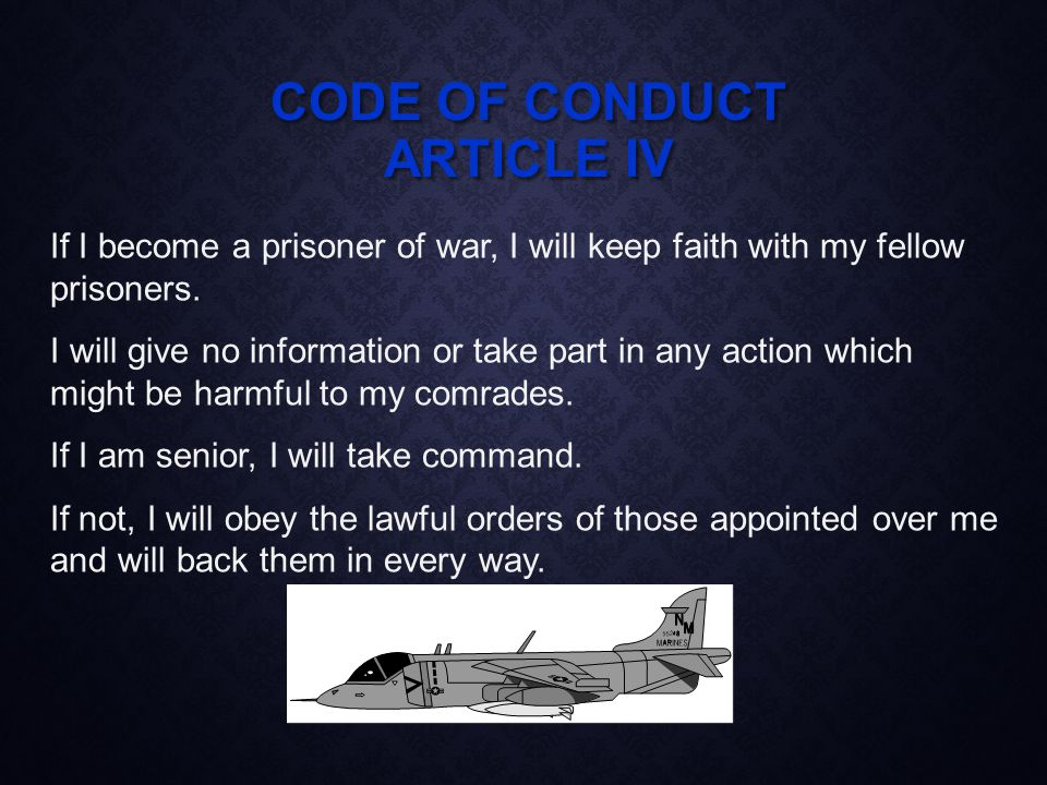 NAVY CORE VALUES Abide by the Code Conduct yourself Be honest and truthful Fulfill responsibilities Have the courage Overcome challenges EXPECTATIONS Be loyal Foster respect for the Chain of Command Care for subordinates Show respect Always strive for positive change Exhibit high moral character, professional excellence, quality, and competence