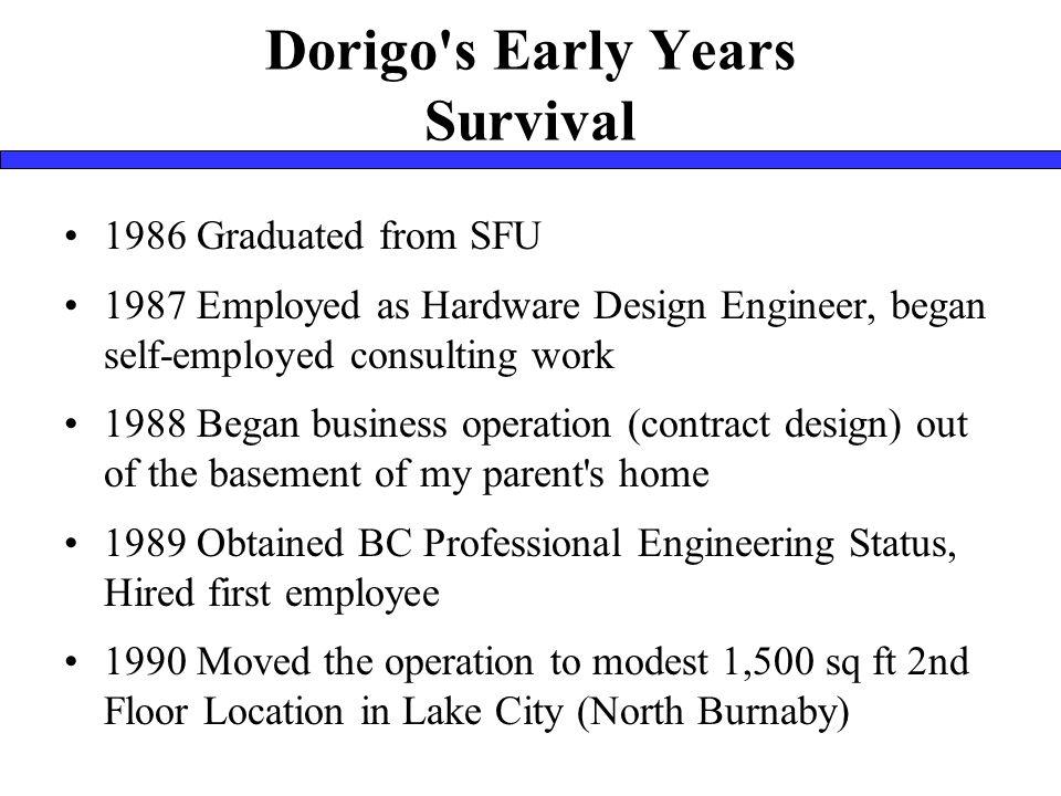 Contact Information Mark Pillon, P.Eng. mdpillon@dorigo.com http://www.dorigo.com