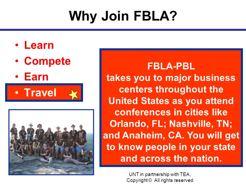 Why Join FBLA.