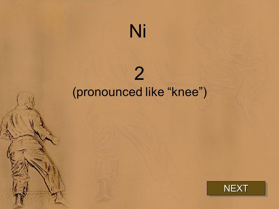 Ni 2 (pronounced like knee ) NEXT