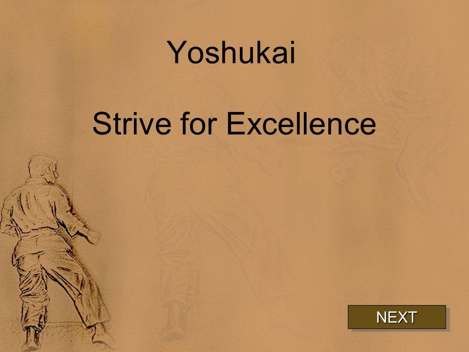 Yoshukai Strive for Excellence NEXT
