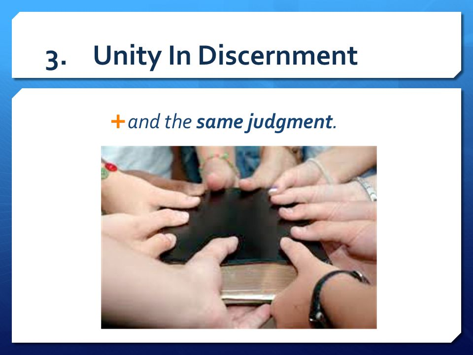II.The Problem Of Division In The Church  1 Corinthians 1:11-12 11 For it has been reported to me by Chloe s people that there is quarreling among you, my brothers.