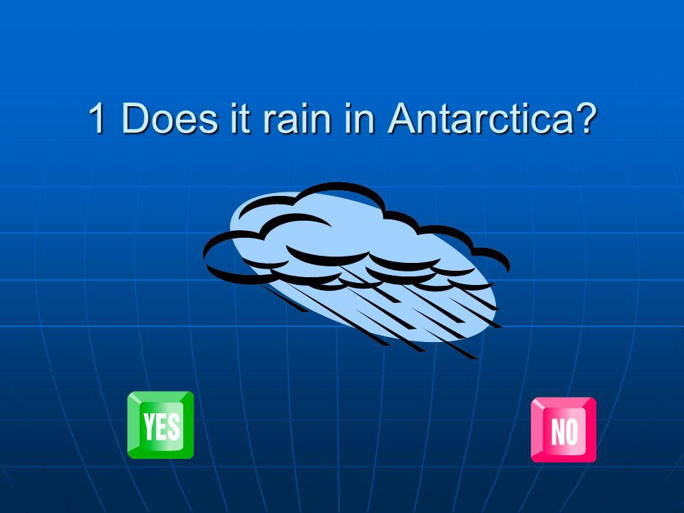 1 Does it rain in Antarctica
