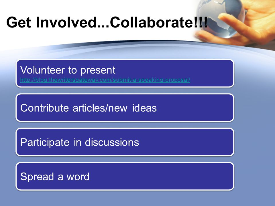 Get Involved...Collaborate!!.