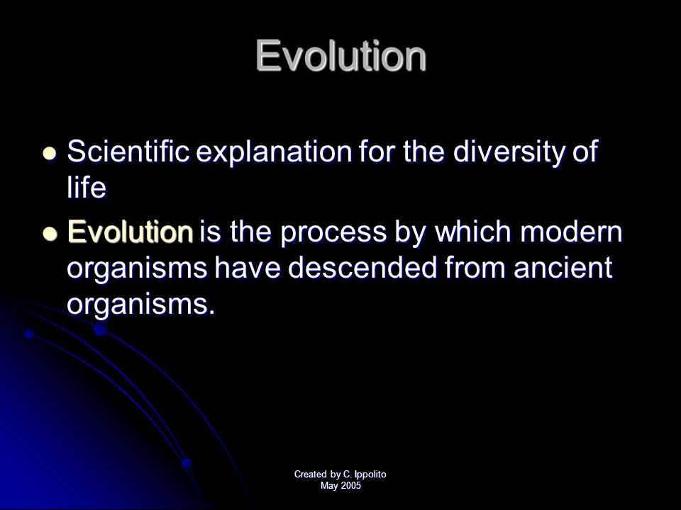 Created by C. Ippolito May 2005 Chapter 15 Section 1 The Puzzle of Life's Diversity Objectives: Describe Charles Darwin's contribution to science. Des
