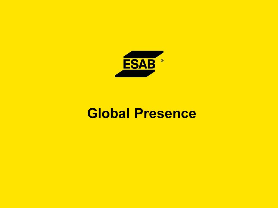 The ESAB Way Principles – Supporting the ESAB Brand  We strive through our daily activity to continuously improve the safety of our working environment.