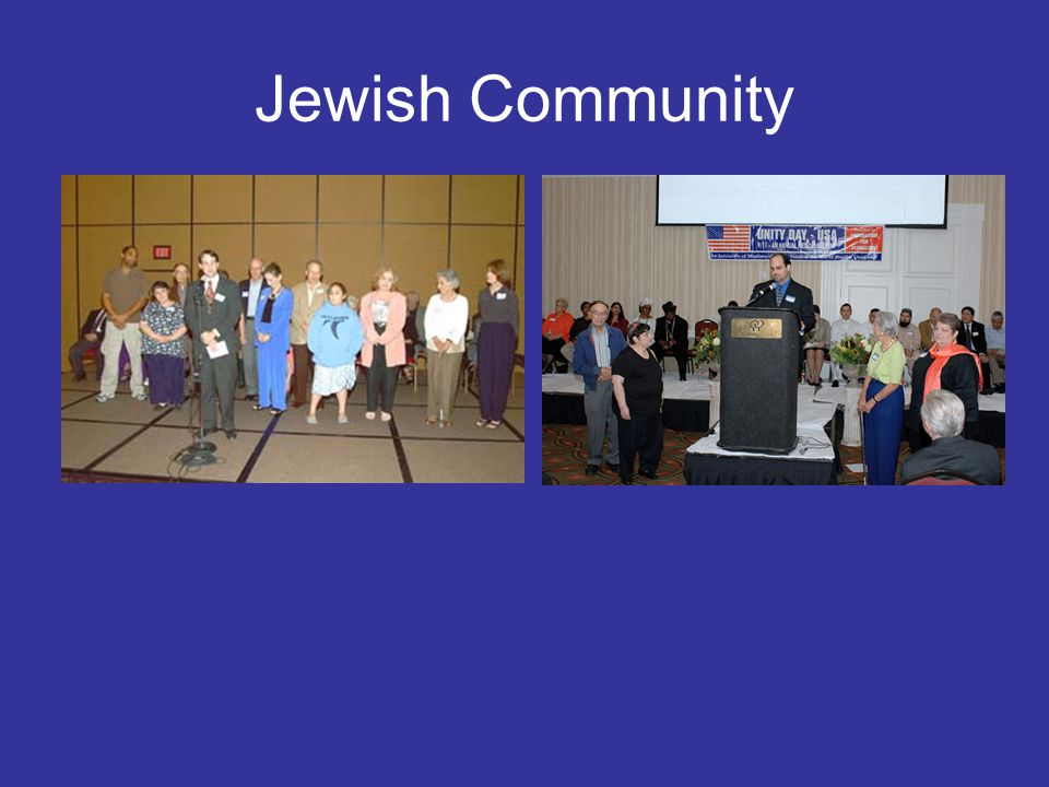 Christian Community Christian Community was represented by Baptist, Catholic, Protestant, Lutherans, Unity Church, Unitarians Presbyterians and others.